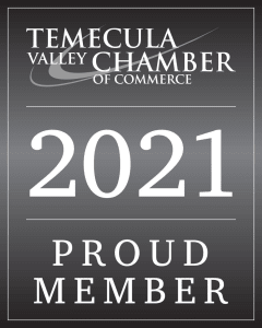 2021 Proud Member of the Temecula Valley Chamber of Commerce