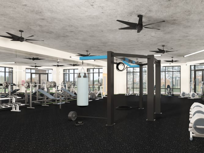 Fitness center at 511 Meeting in Charleston, South Carolina