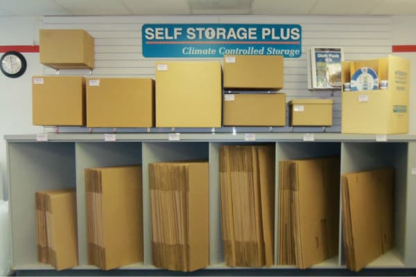 Storage boxes for sale at Self Storage Plus in Sterling, VA