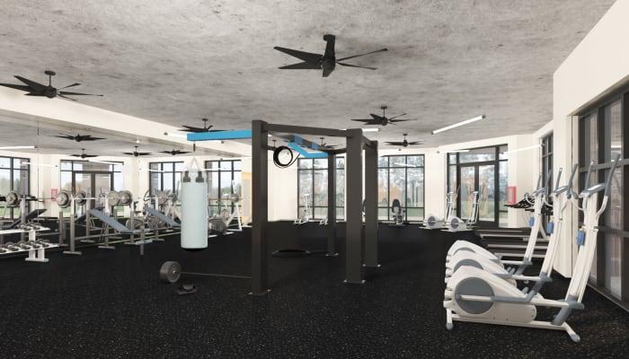 Fitness equipment at 511 Meeting in Charleston, South Carolina