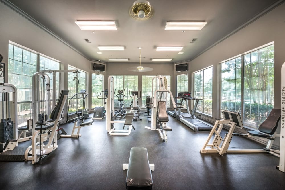 Onsite fitness center with ample equipment for all at 23Hundred @ Ridgeview in Plano, Texas