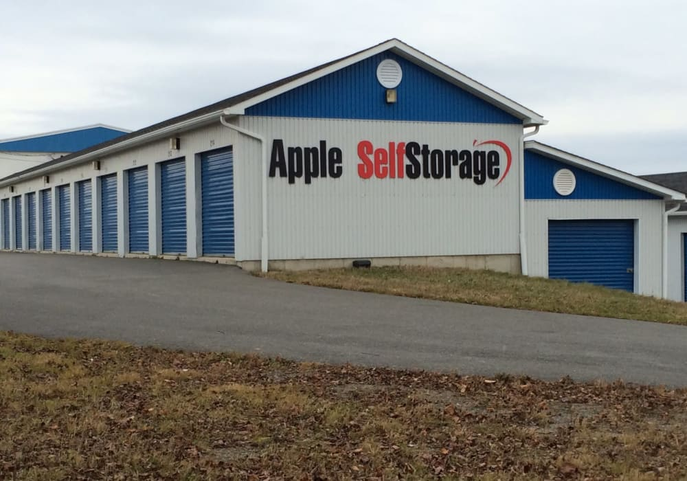 Outside of Apple Self Storage - Fredericton in Fredericton, New Brunswick