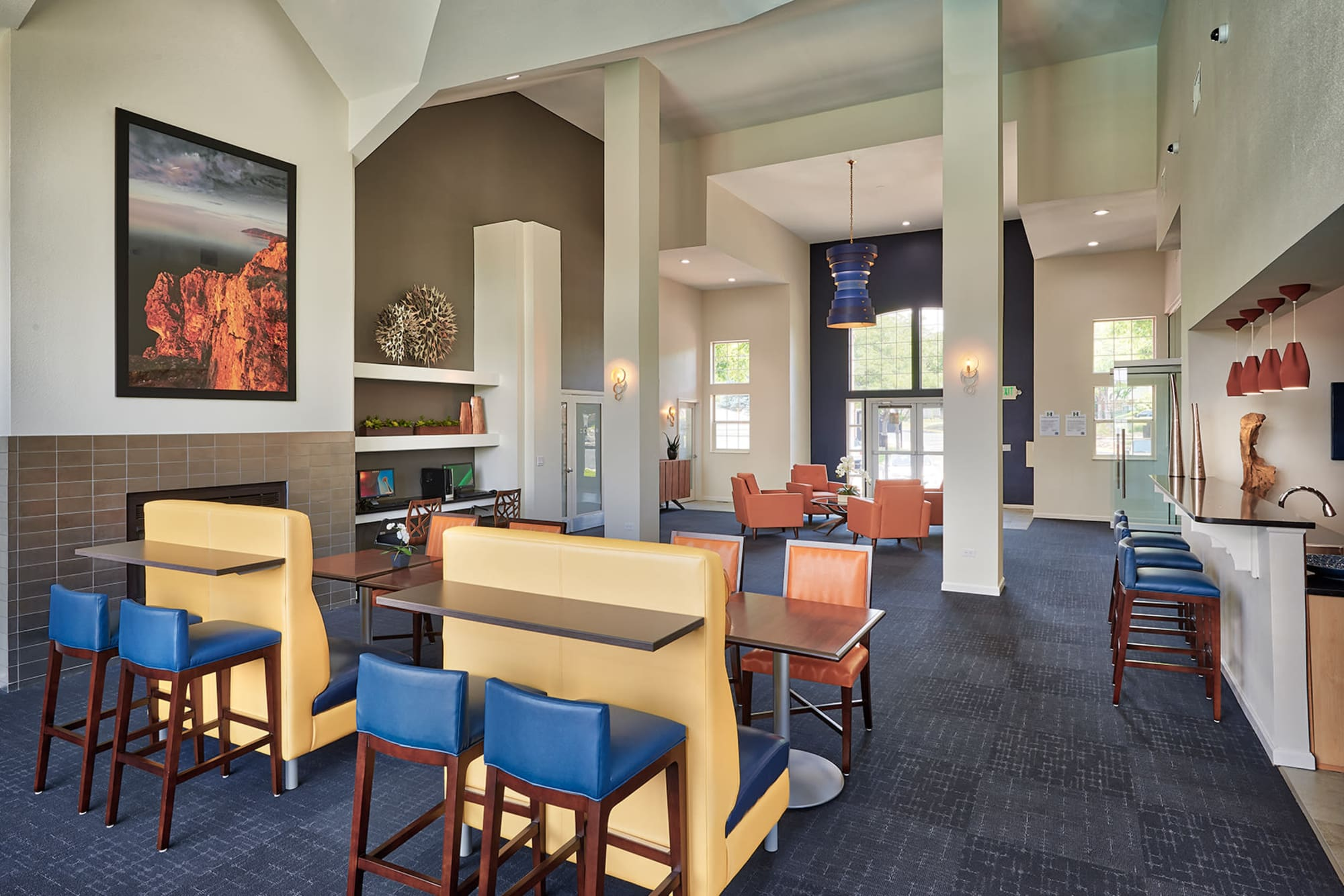 Clubhouse Lounge Area in Villas at Homestead Apartments