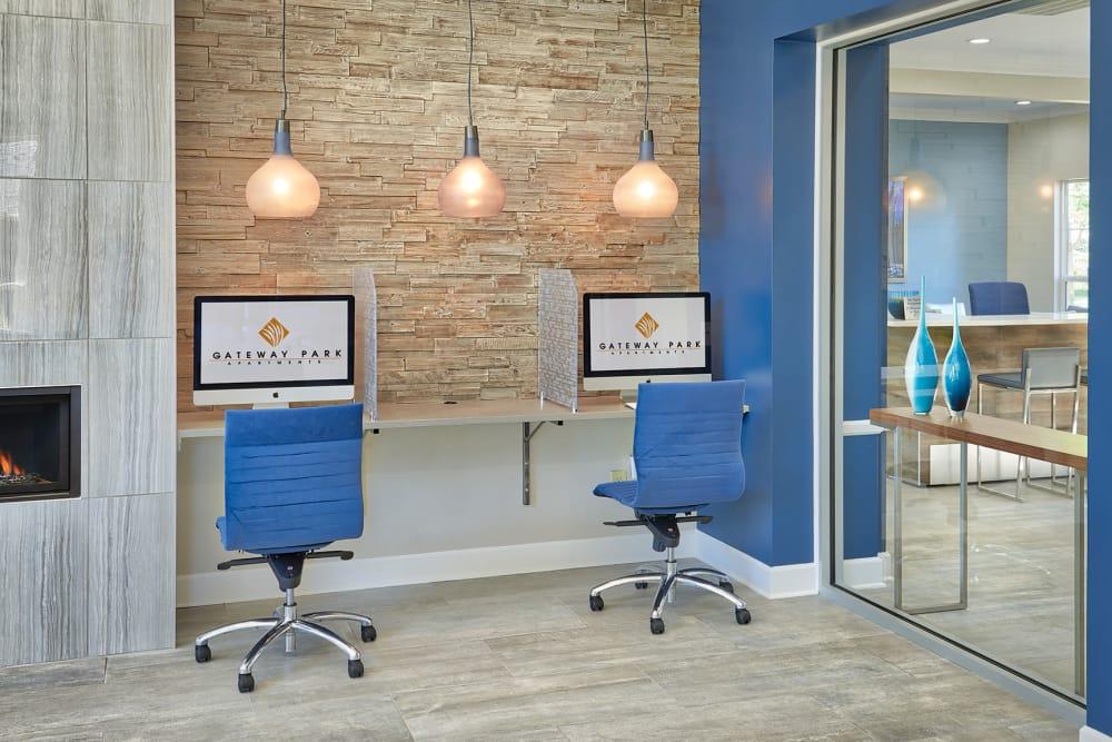Business Center at Gateway Park Apartments in Denver, CO