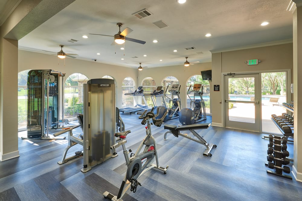 Fitness center at Gateway Park Apartments in Denver, CO