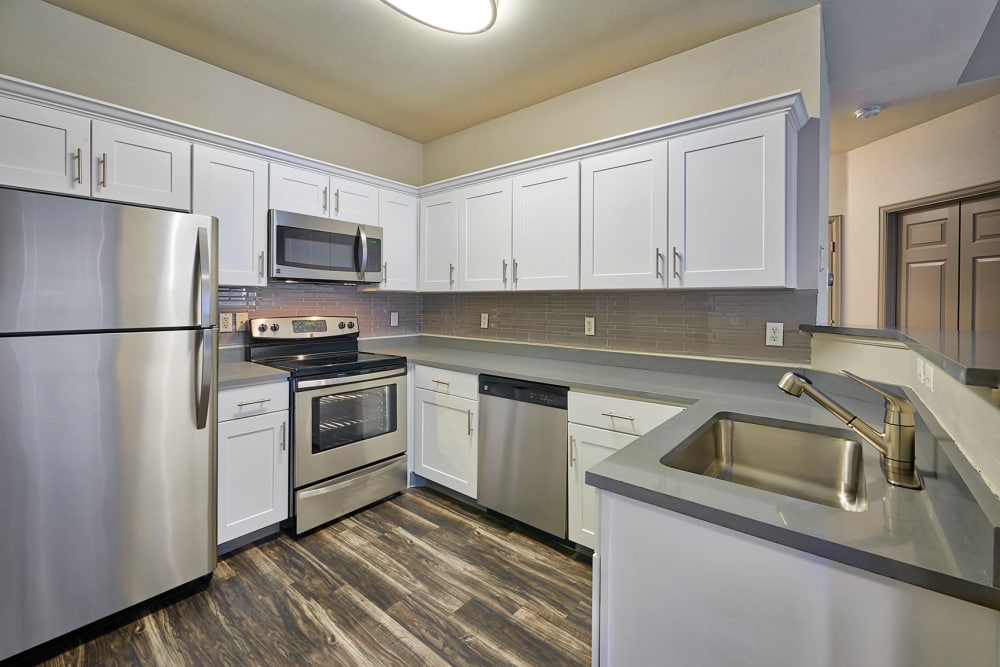 Fully Equipped Kitchen Room at Gateway Park Apartments in Denver, CO