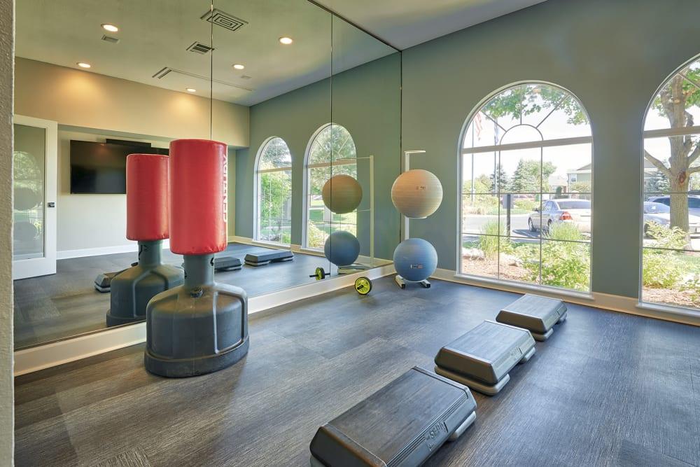 Yoga Room at Gateway Park Apartments in Denver, CO