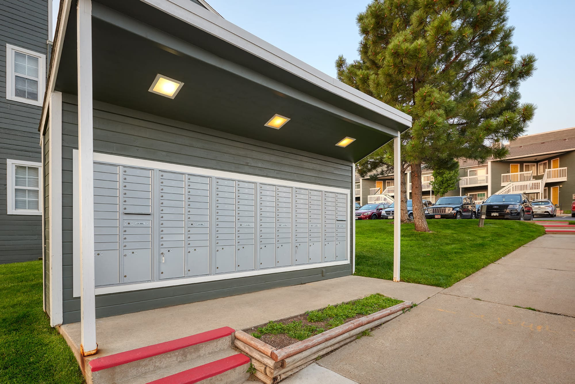 Outdoor Covered Mailboxes of Bluesky Landing Apartments in Lakewood, Colorado