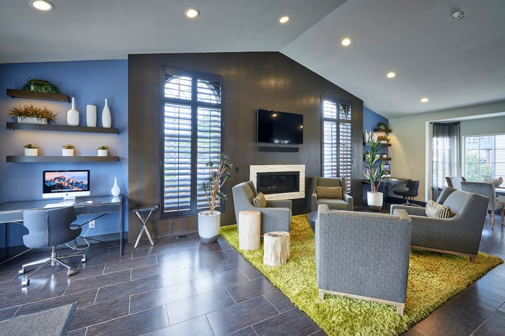 Community clubhouse for resident use at Arapahoe Club Apartments in Denver, Colorado