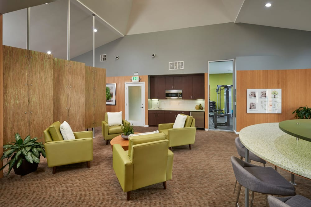 Community common area for resident use at Alton Green Apartments in Denver, Colorado