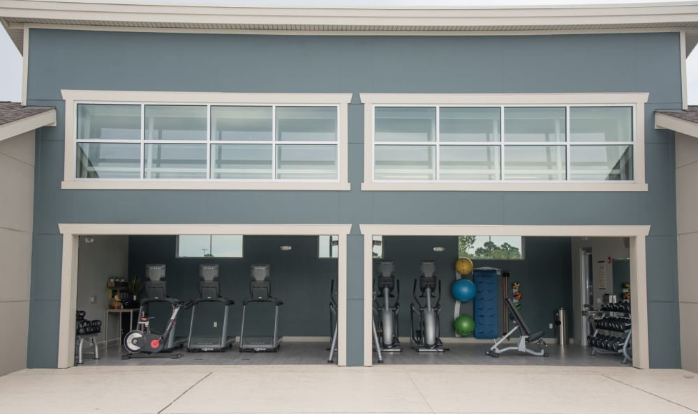 24 hour fitness center at Springs at Country Club Apartments in Lake Charles, LA