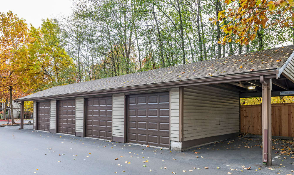 car garages at Olin Fields Apartments