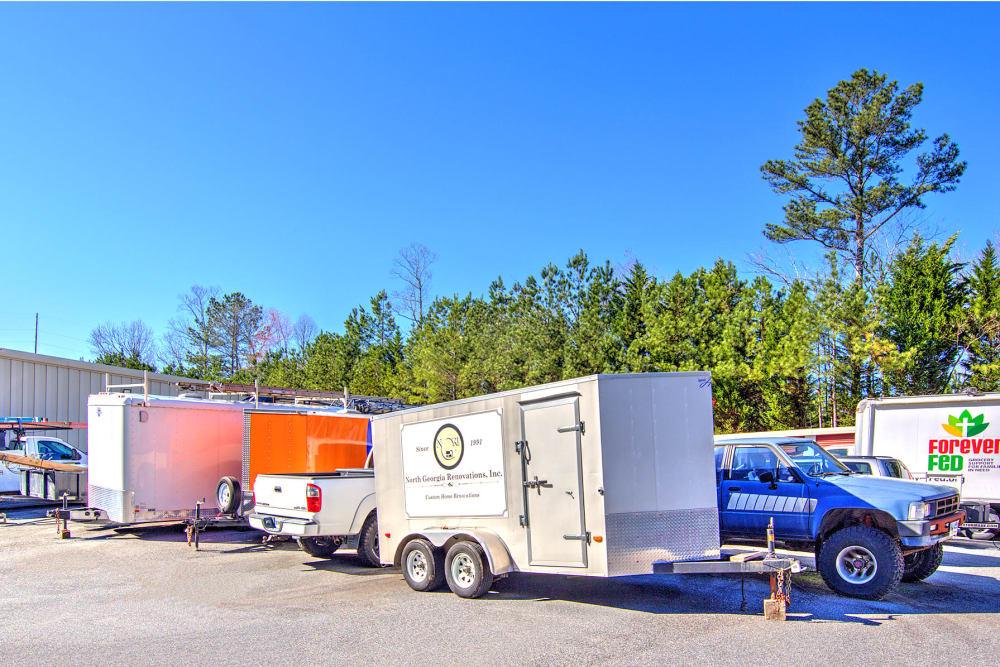 Trailer storage at Prime Storage in Acworth, Georgia