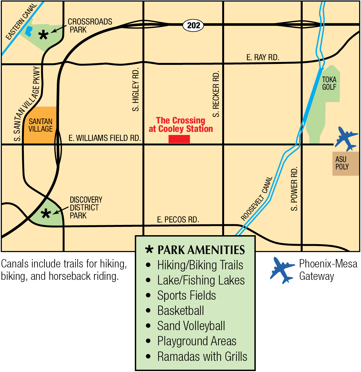 Map of The Crossing at Cooley Station