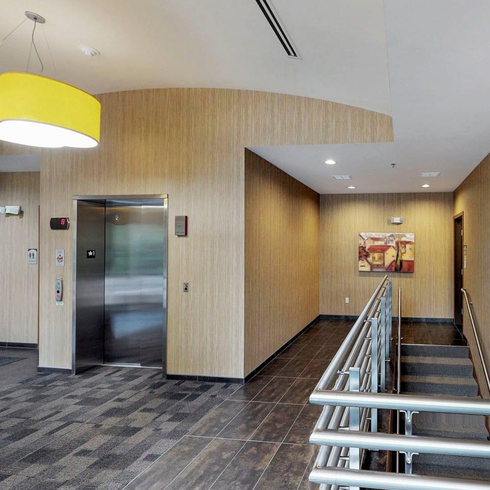 Elevator access to make your day easier at Oaks Glen Lake in Minnetonka, Minnesota