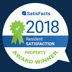 The Retreat Apartments is the 2018 Resident Satisfaction property award winner