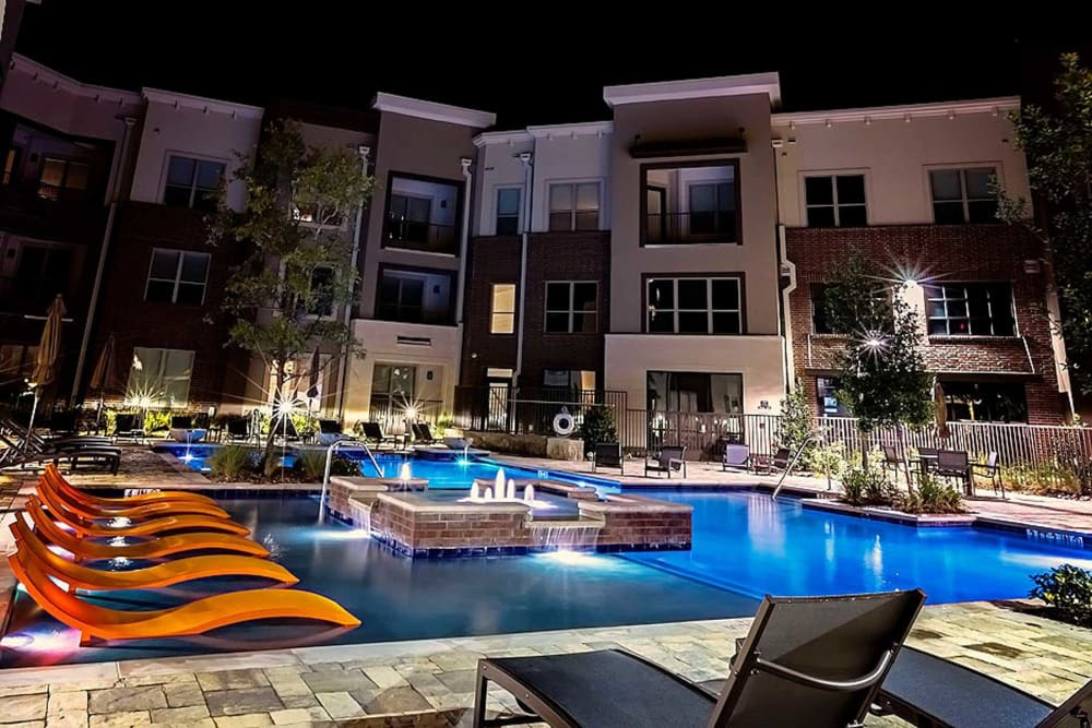 Pool at apartments in Plano
