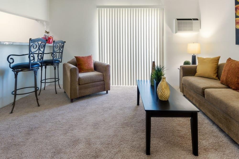 Naturally lit living Room at The Newporter in Tarzana, California