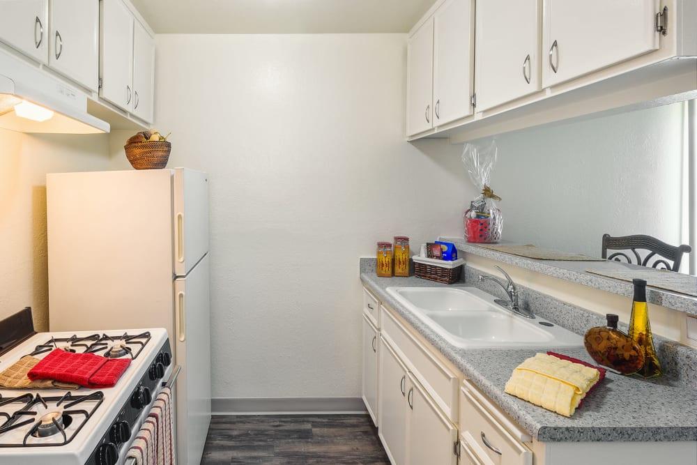 Nice clean kitchen at The Newporter in Tarzana, California