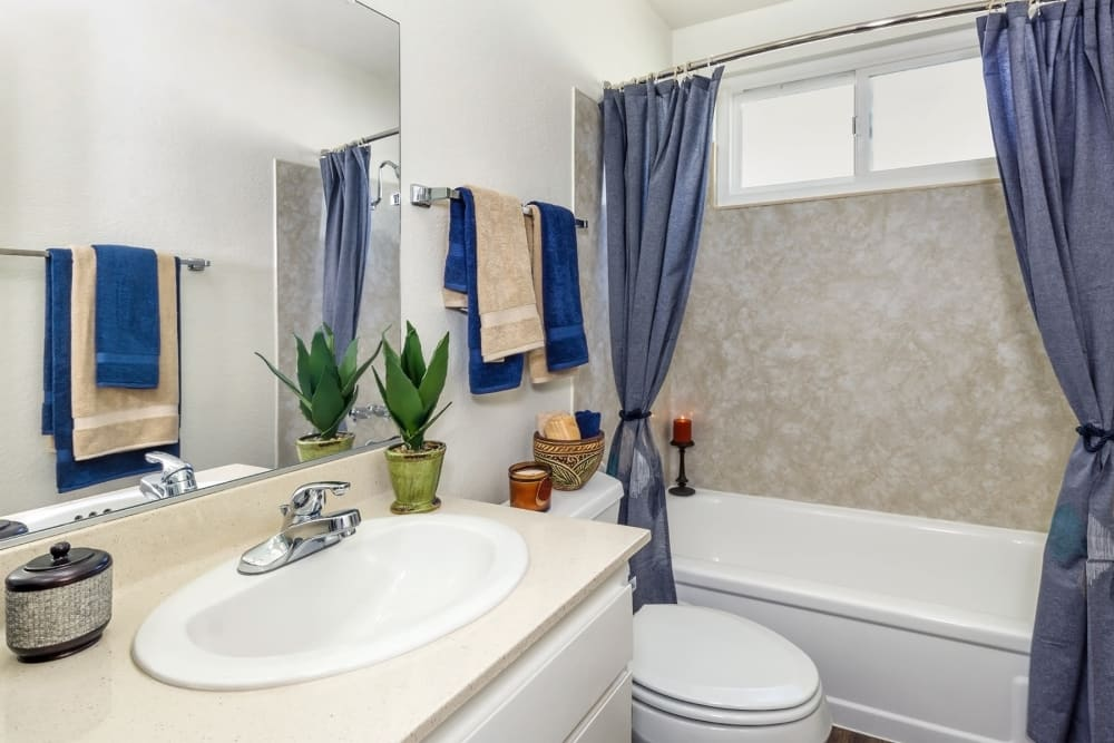 Example bathroom at The Terrace in Tarzana, California