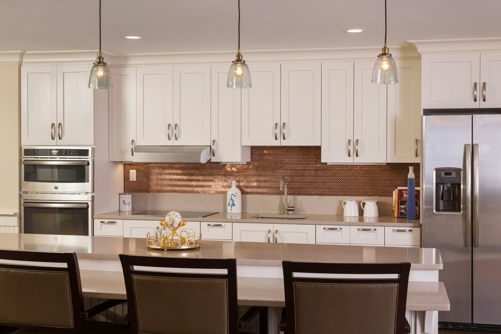Fully equipped kitchen at Maplewood at Weston in Weston, Massachusetts