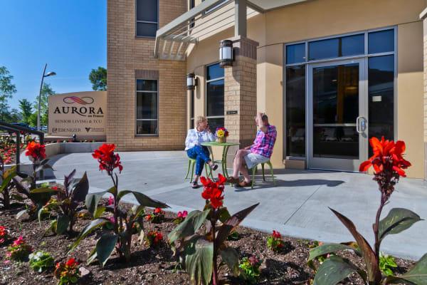 Residents enjoying sitting outside of Aurora on France in Edina, Minnesota