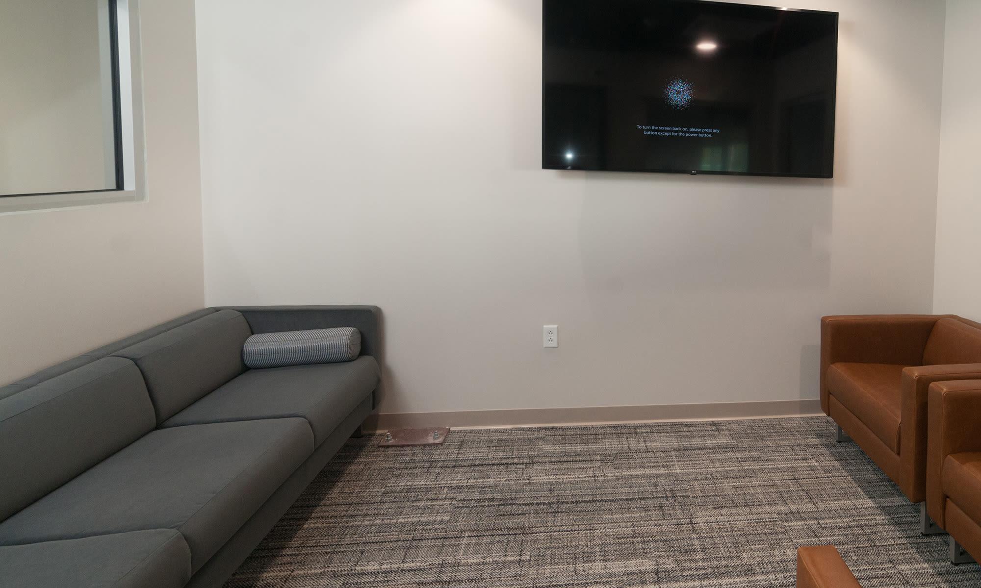Customer Lounge (The Bullpen) at Virginia Varsity Storage in Roanoke, Virginia is located