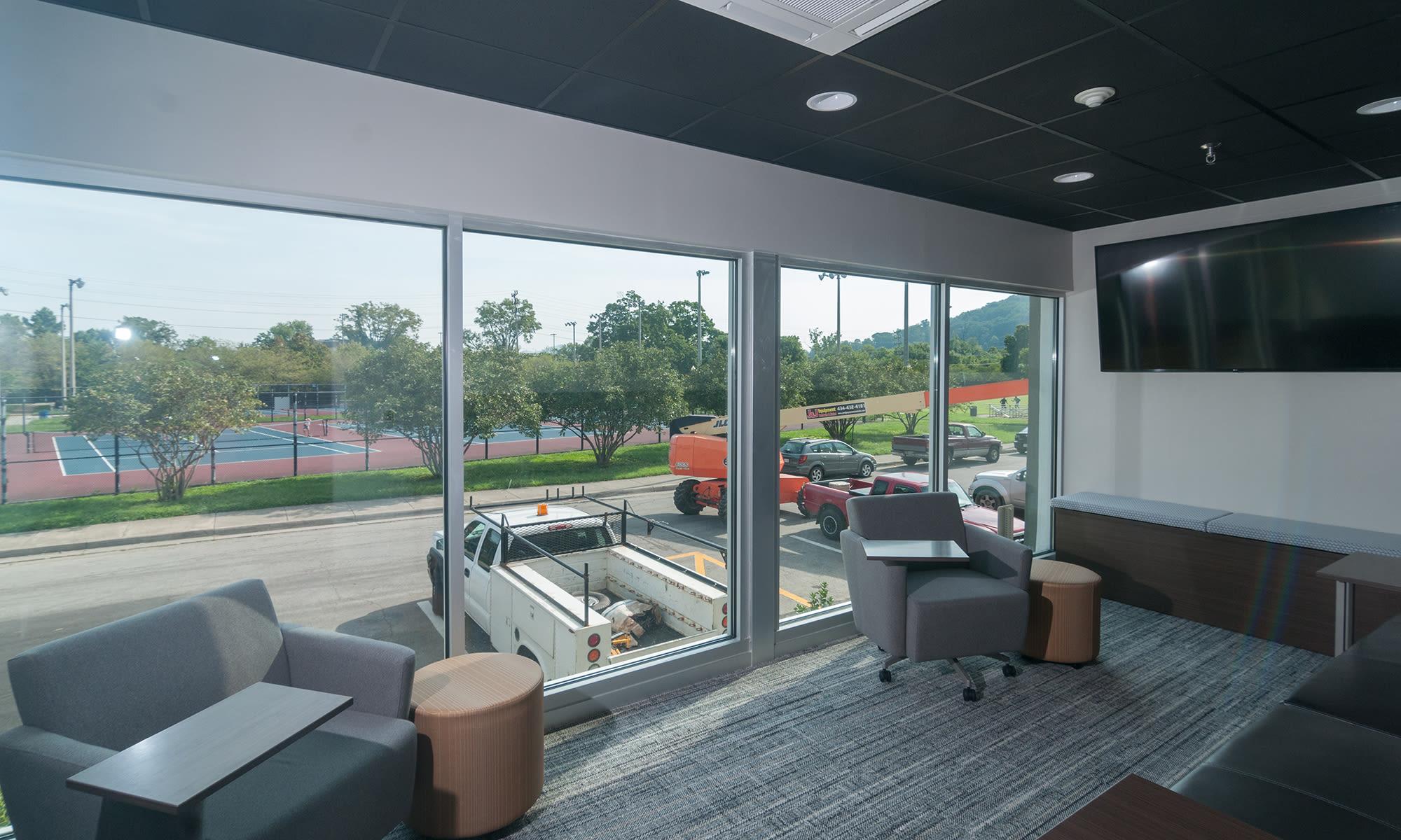 Customer Meeting Room (Centre Court) at Virginia Varsity Storage in Roanoke, Virginia is located