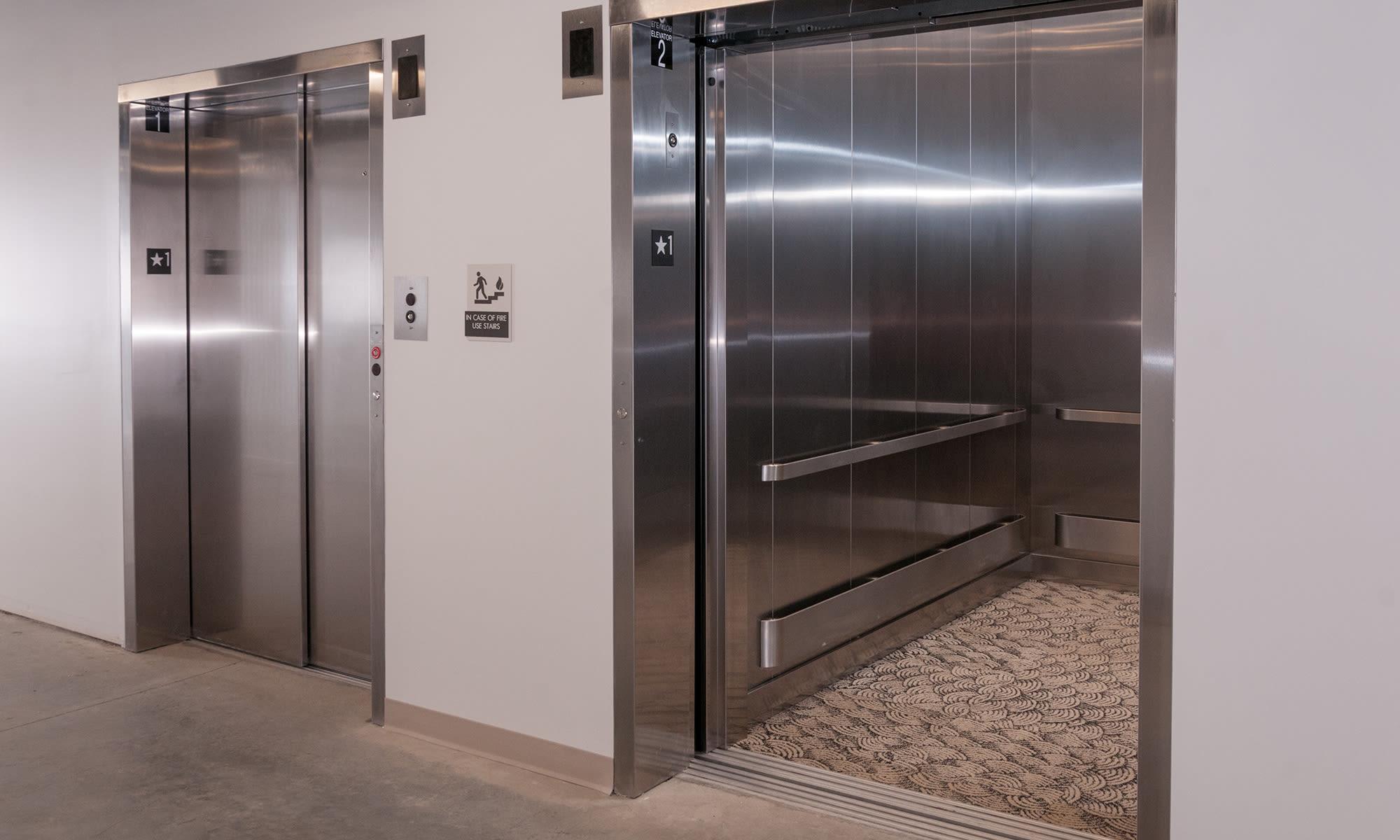 Oversized Dual Elevators at Virginia Varsity Storage in Roanoke, Virginia