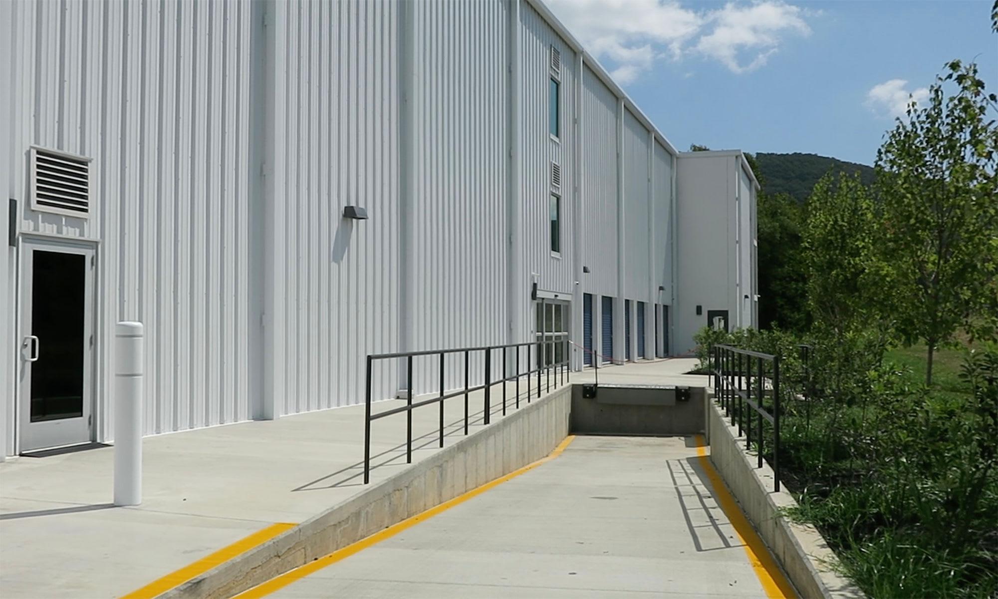Tractor Trailer Accessible Dock at Virginia Varsity Storage in Roanoke, Virginia is located
