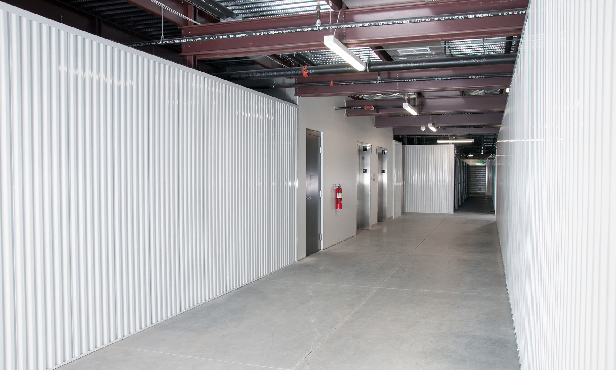 Wide Hallways at Virginia Varsity Storage in Roanoke, Virginia is located
