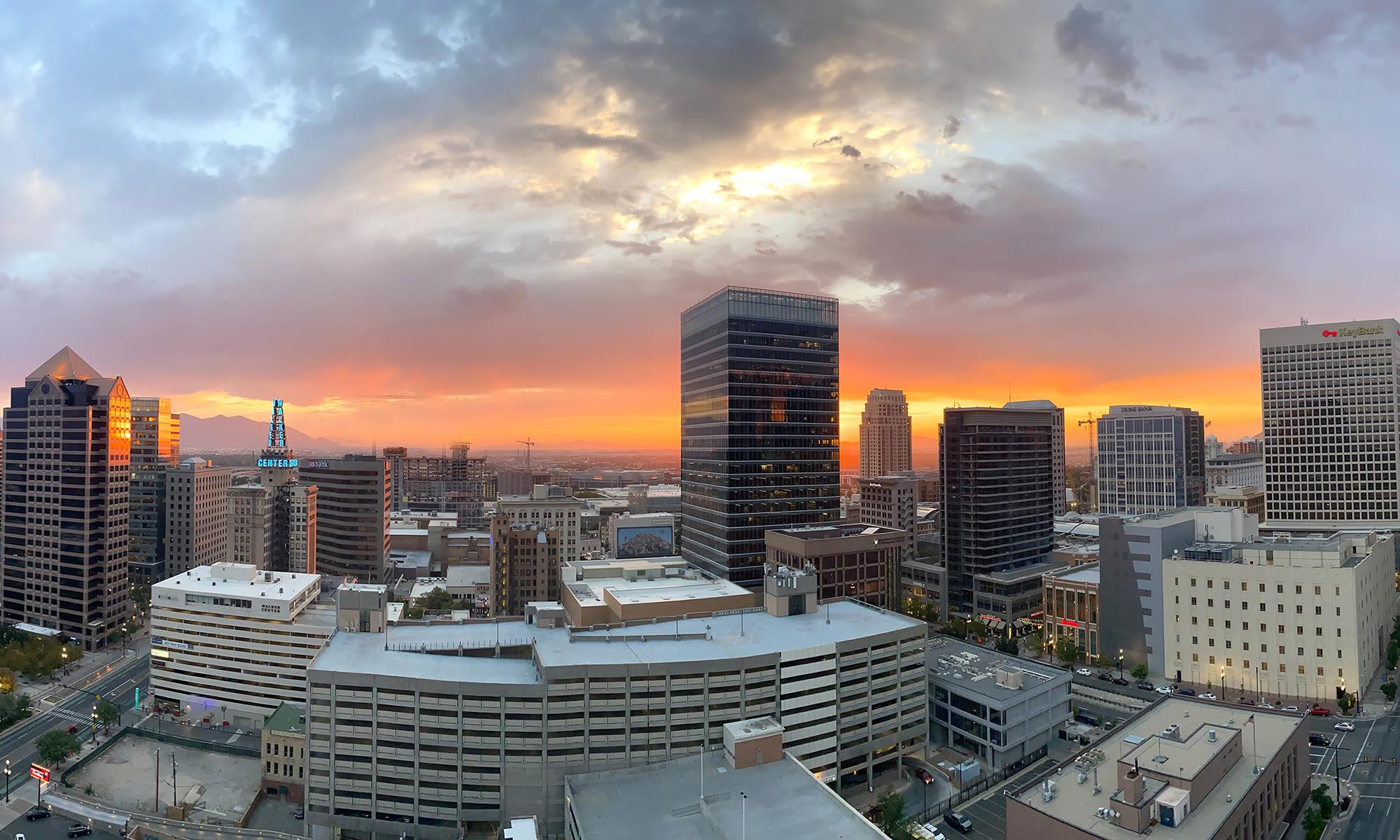 Sunset at Liberty SKY in Salt Lake City, Utah