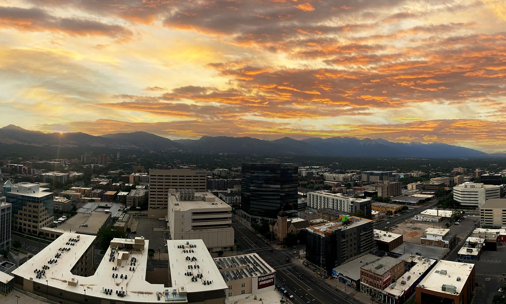 Sunrise at Liberty SKY in Salt Lake City, Utah