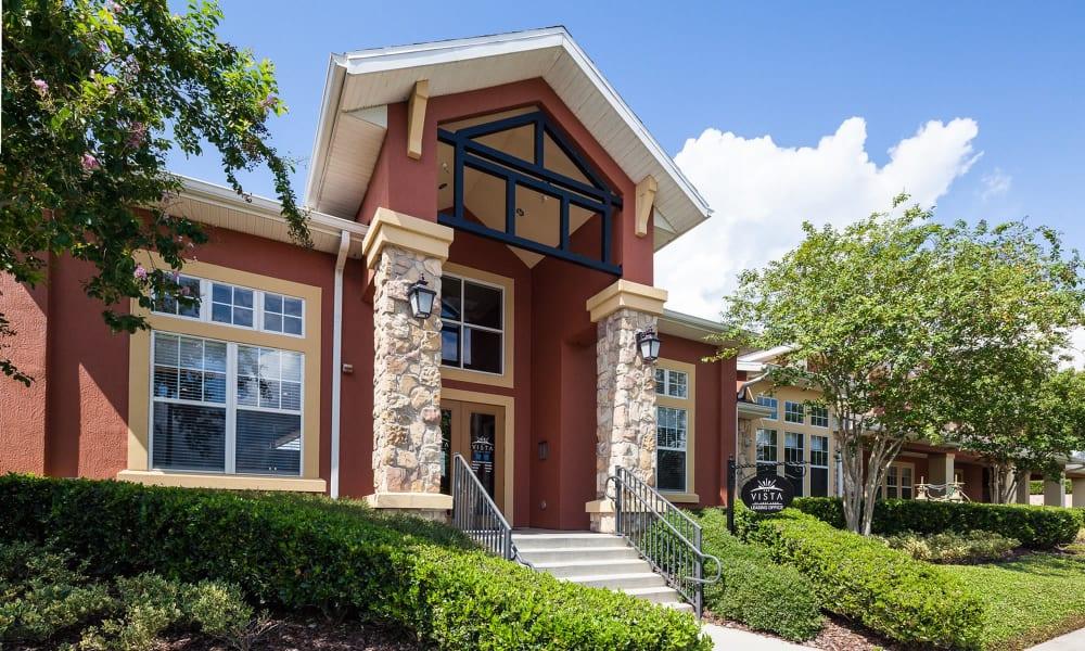 Apartments facade at Vista at Lost Lake