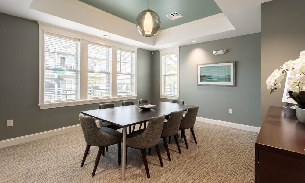 Dining room at Canal Crossing home in Camillus, NY