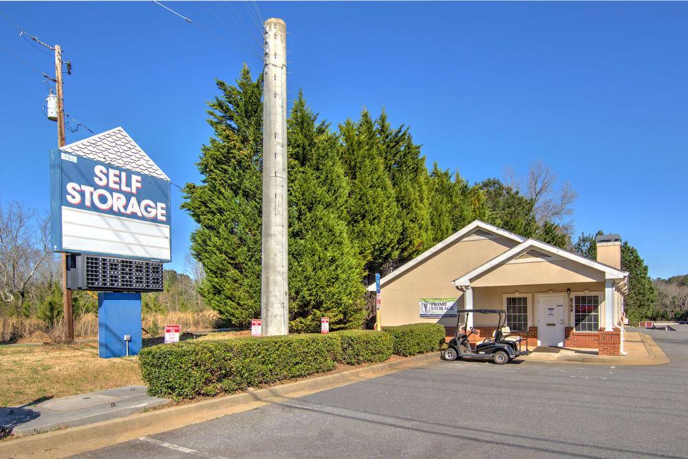 Prime Storage parking lot in Acworth, Georgia