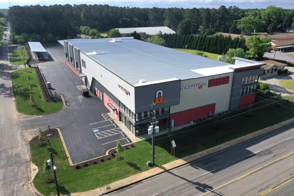 Side view of Aiken, South Carolina at Storage Units