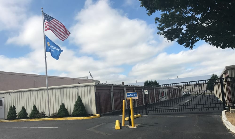 Security gate at Compass Self Storage in Neptune, NJ