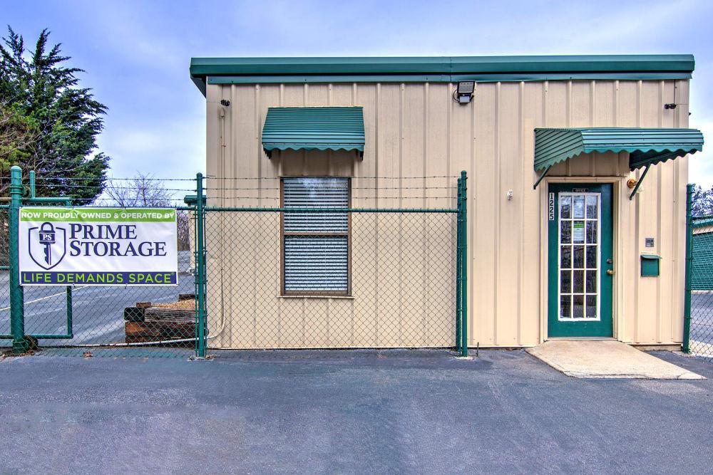 Gated entrance at Prime Storage in Marietta, Georgia