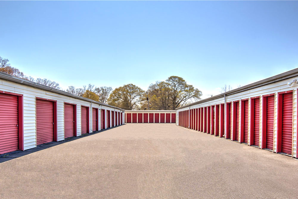 Outdoor storage units at Prime Storage in Newport News, Virginia