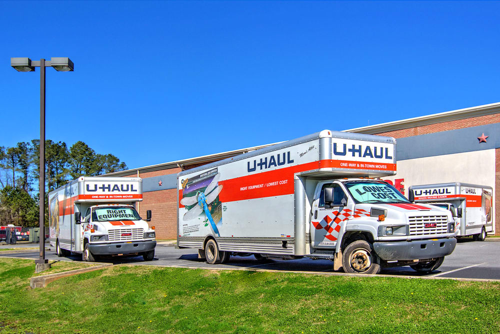 U-Haul rentals at Prime Storage in Cartersville, Georgia