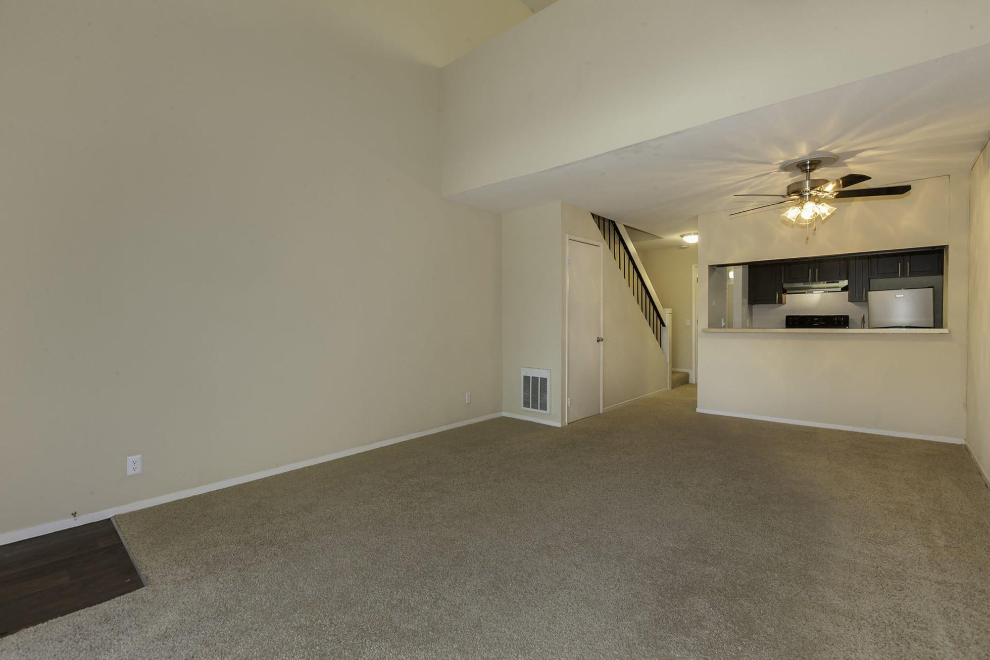 Open floor plan view of living room in Hayward, CA offer a living room