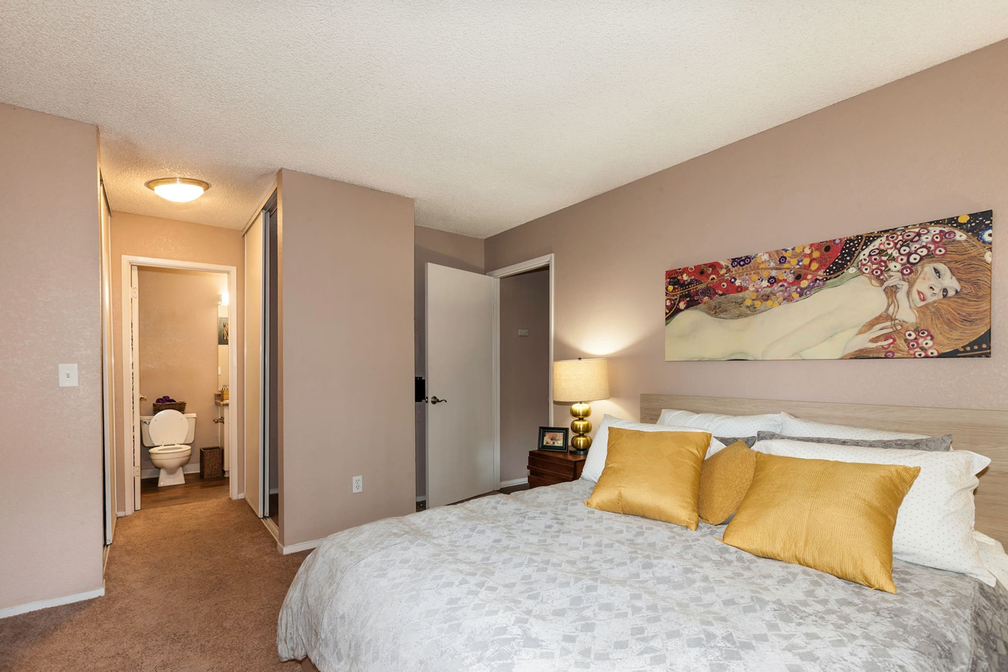 Bedroom at The Woodlands Apartments