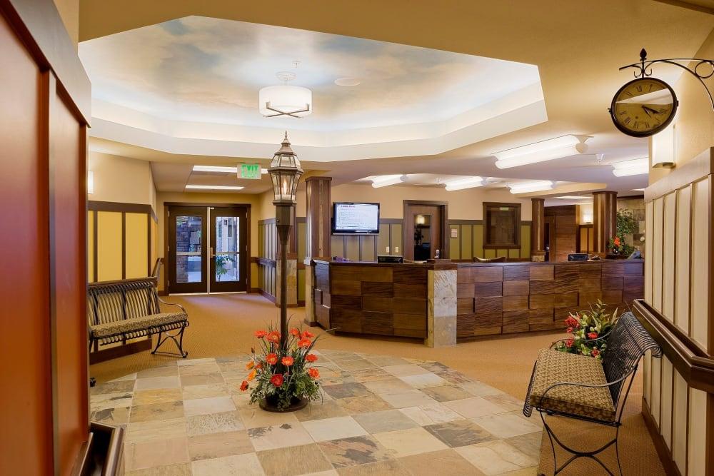Entrance and reception desk at The Springs at Tanasbourne in Hillsboro, Oregon