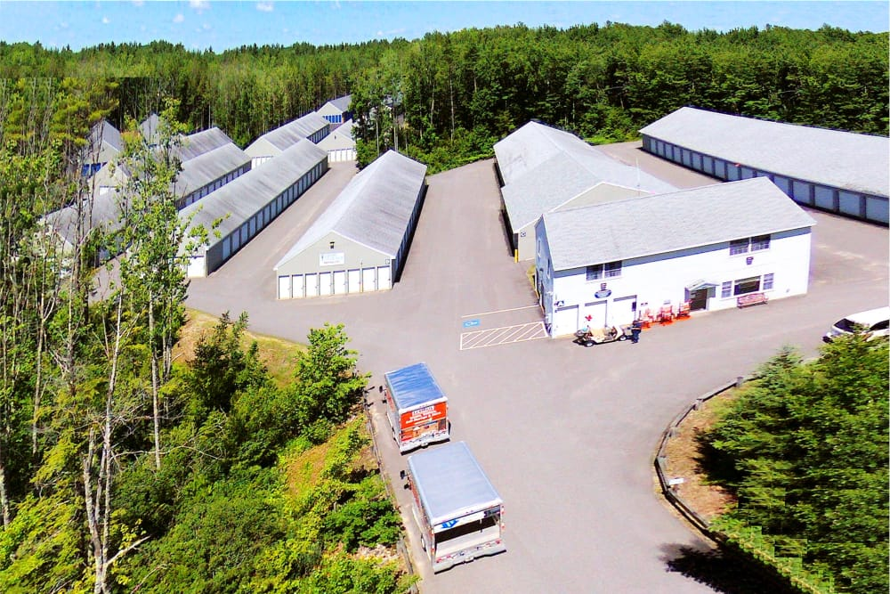 Aerial view of Prime Storage in Arundel, Maine