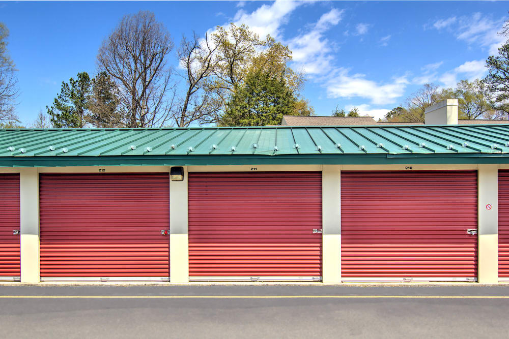 Out door storage units at Prime Storage in Glen Allen, VA