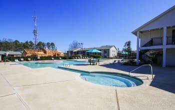 Pool at apartments in Marietta