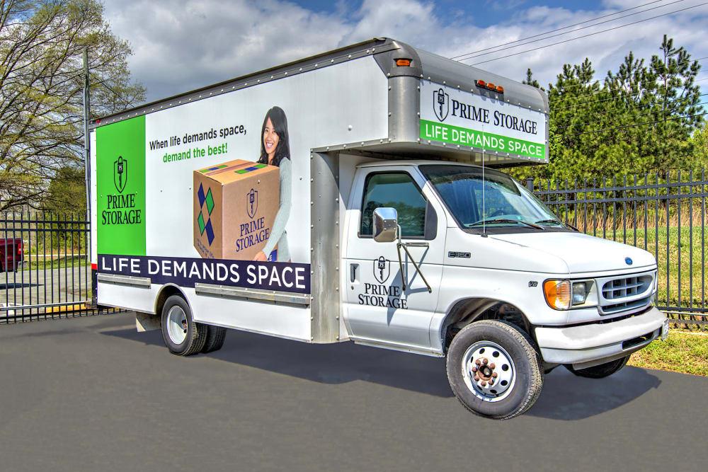 Moving truck at Prime Storage in Ashland, VA