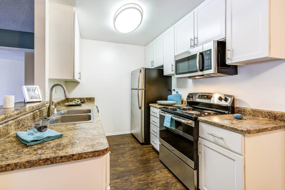Spacious model kitchen at Olive Ridge in Pomona, California