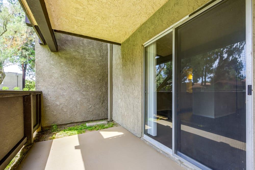 Private patio at Olive Ridge in Pomona, California